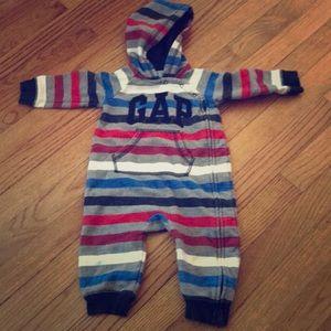 Baby boy Gap hooded One piece